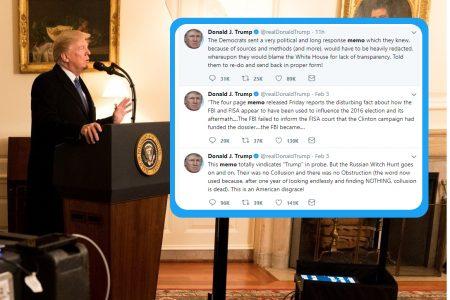 Donald Trump, tweets