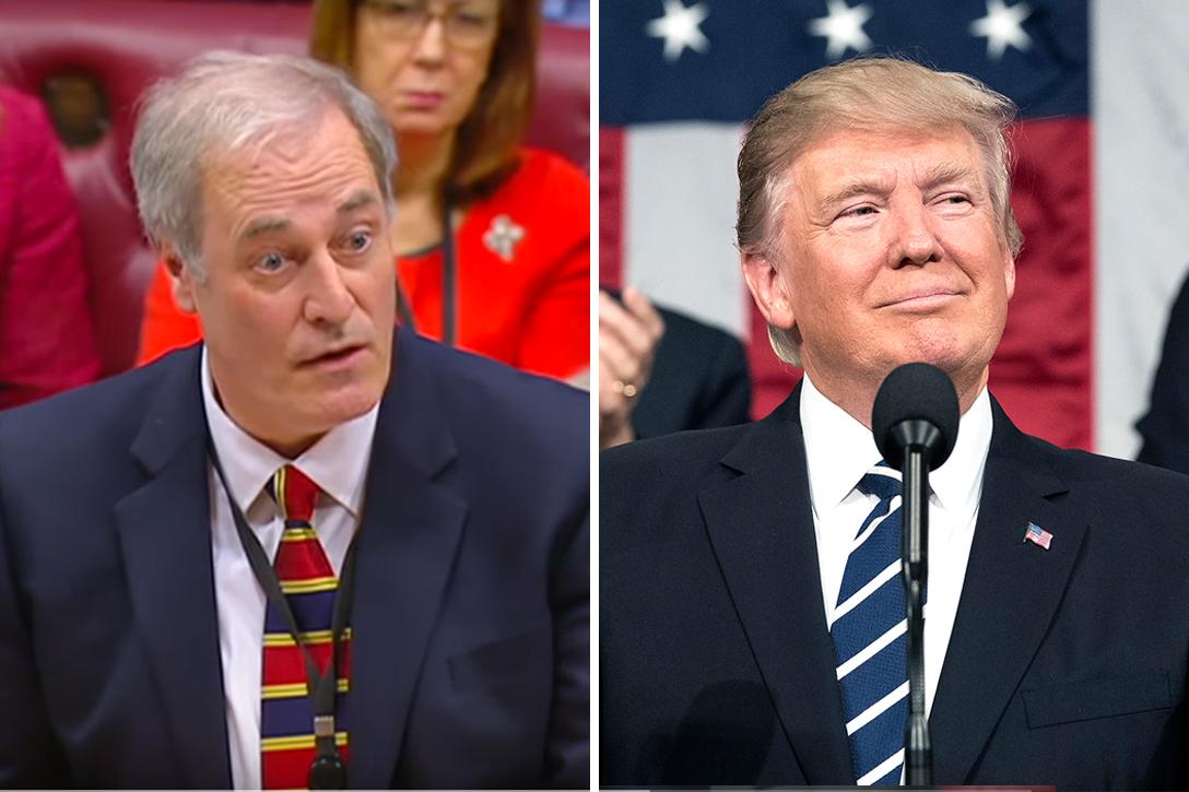 Lord Bates, Donald Trump