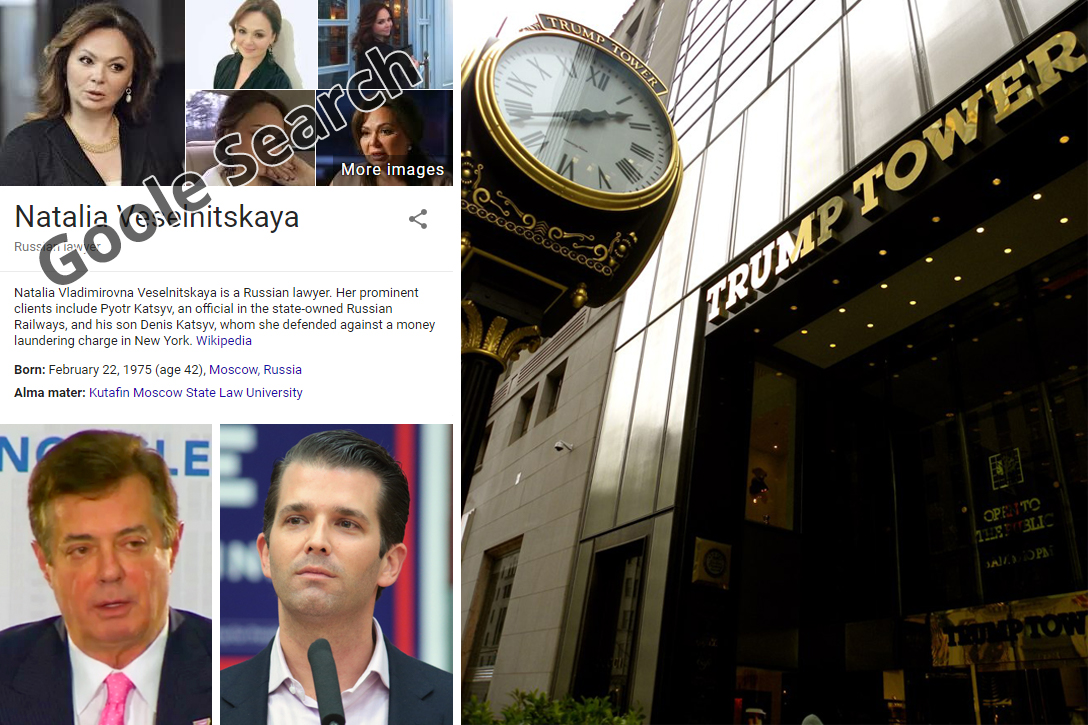 Natalia Veselnitskaya, Trump Tower, Paul Manafort, Donald Trump Jr.