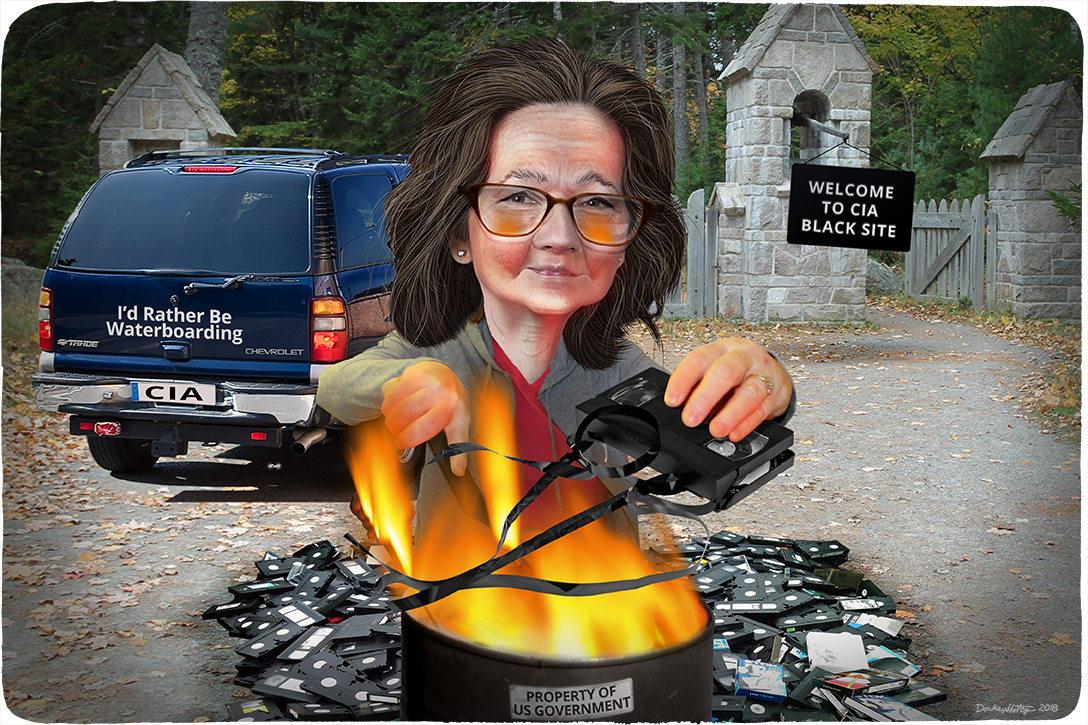 Gina Haspel, tape burning