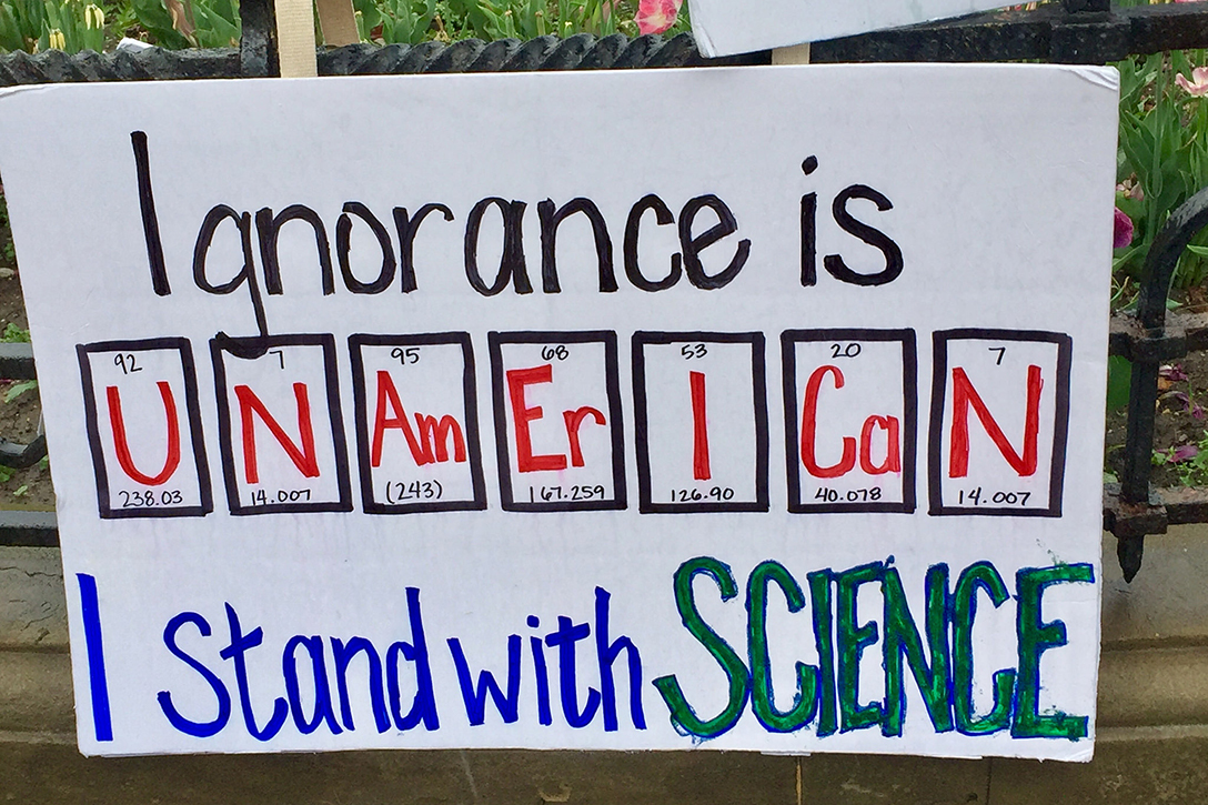 science, protest