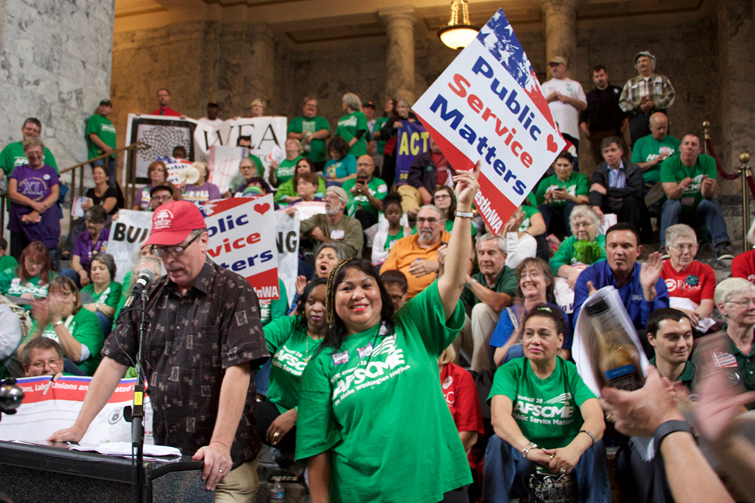 AFSCME, public sector, unions