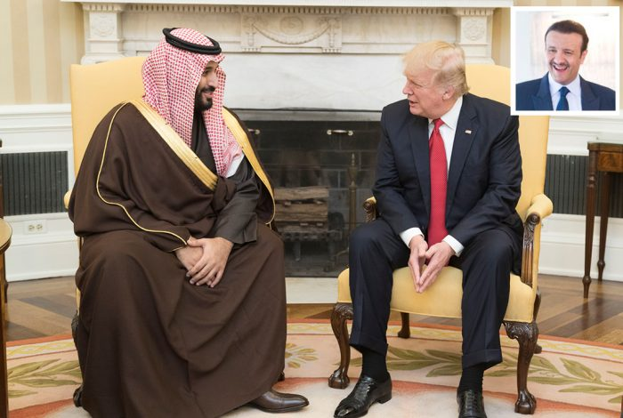 Donald Trump, Prince Mohammed, Prince Sultan