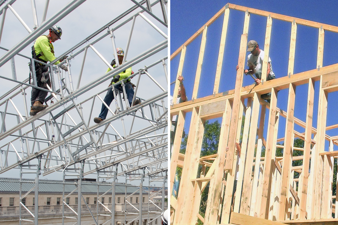 construction, materials, steel, lumber