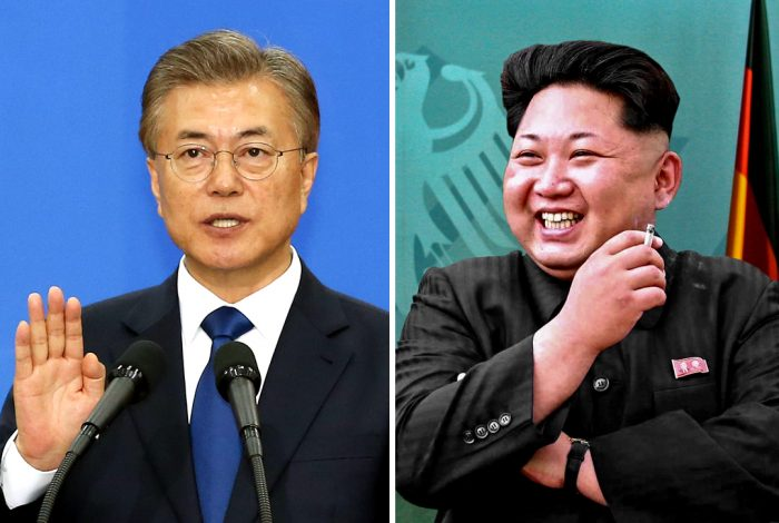 Moon Jae-in Korean Kim Jong-un