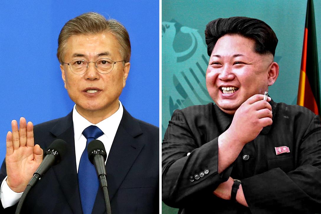 Moon Jae-in, Korean, Kim Jong-un