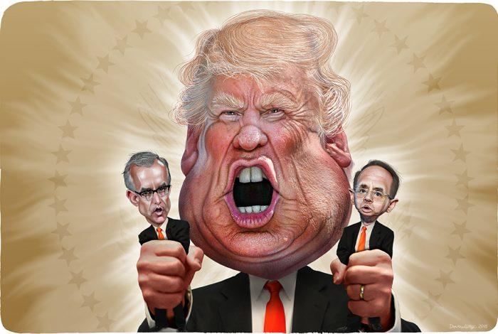 Donald Trump, Andrew McCabe, Rod Rosenstein