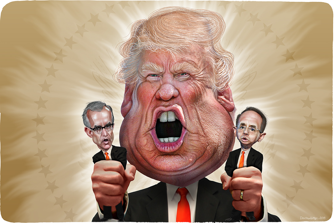 Donald Trump, Andrew McCabe, Rod Rosenstein