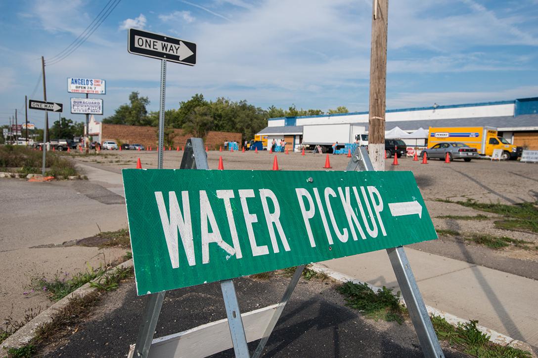 Flint, water, pickup