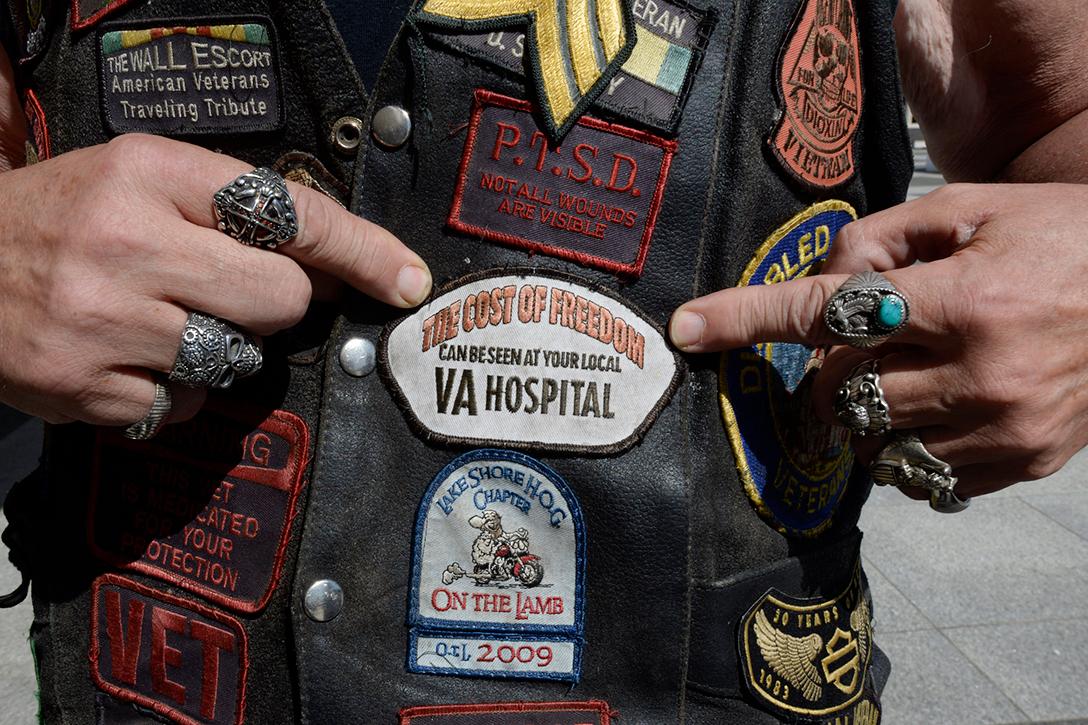 Vietnam veteran , patches