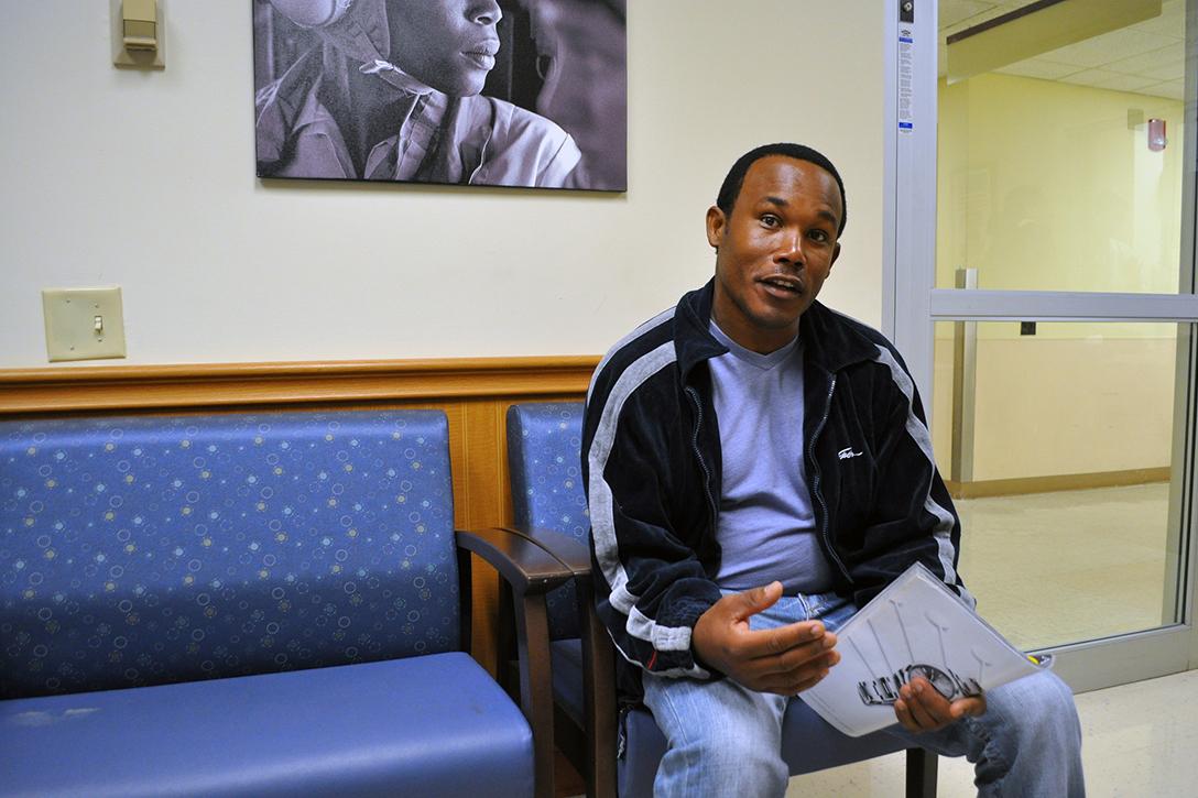 veteran, waiting room