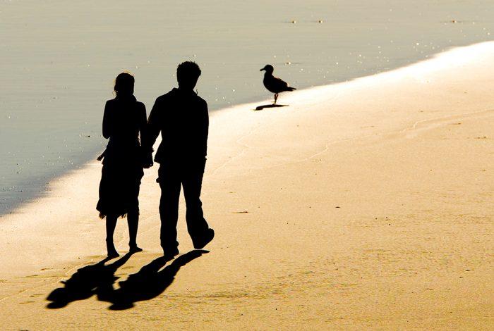 couple, beach