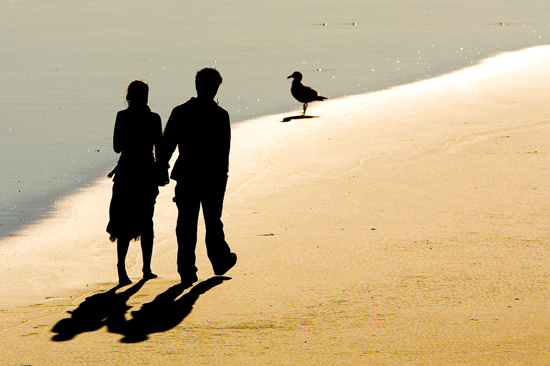 couple, beach