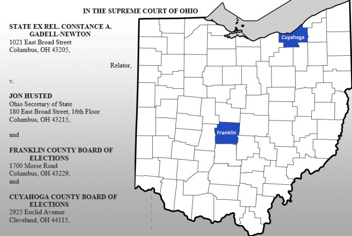 Ohio, ballot images, Franklin County, Cuyahoga County