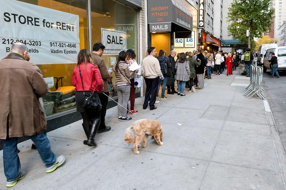New York City, voting, line