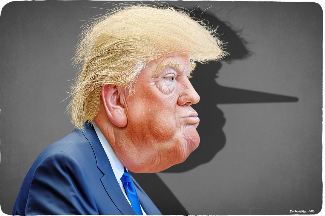 Donald Trump, lying