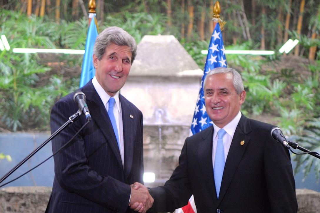 John Kerry, Perez Molina