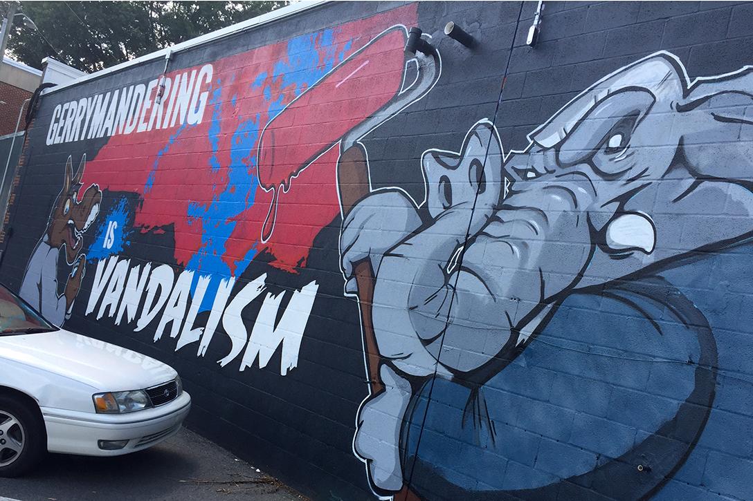 gerrymandering, graffiti