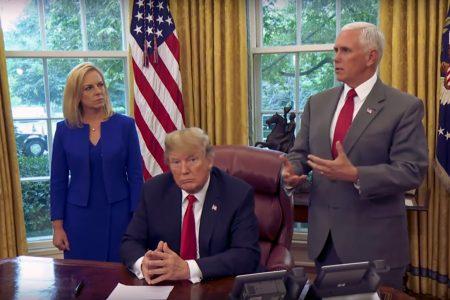 Kirstjen Nielsen, Donald Trump, Mike Pence