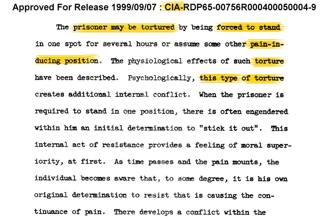 CIA brainwashing report