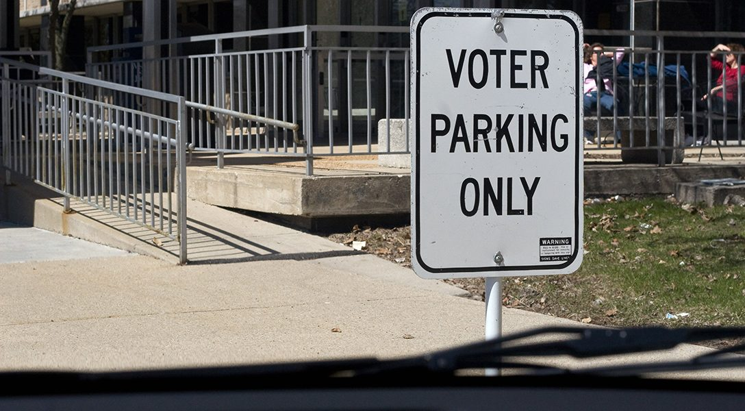 voter parking, access ramp