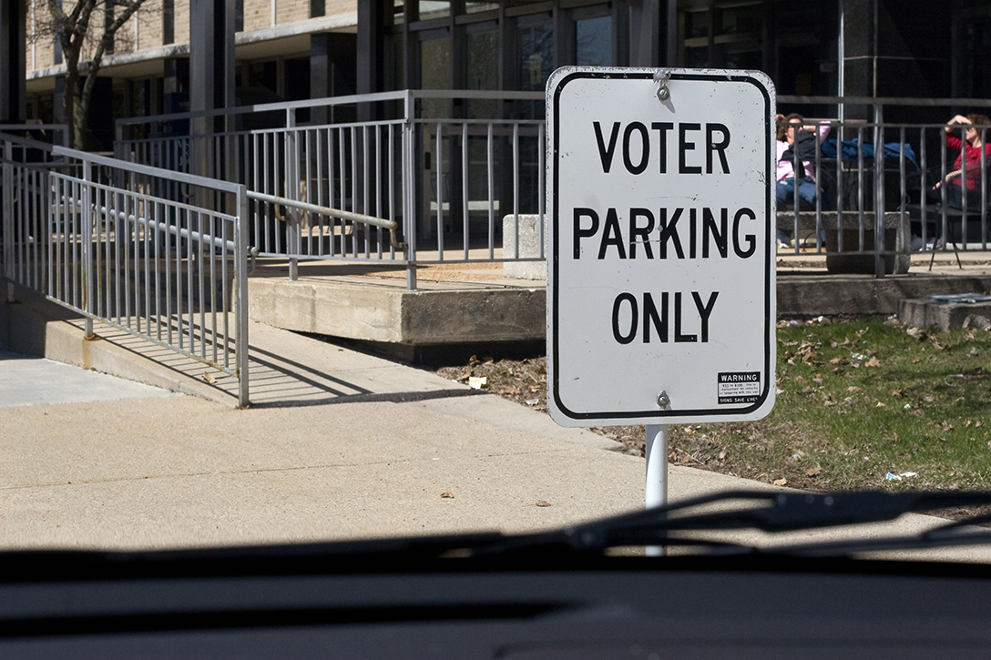 voter parking, access ramp