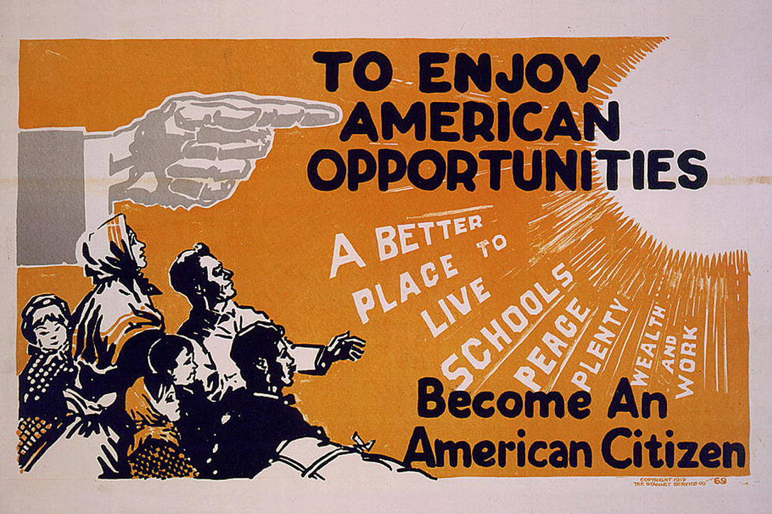 To enjoy American opportunities become an American citizen.