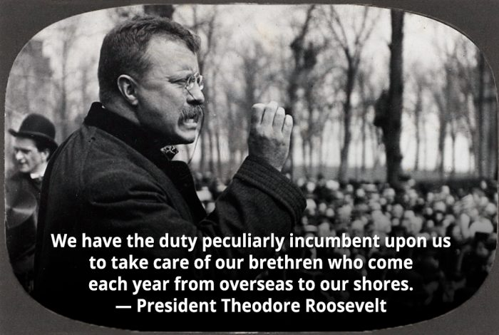 Theodore Roosevelt, immigration, quote