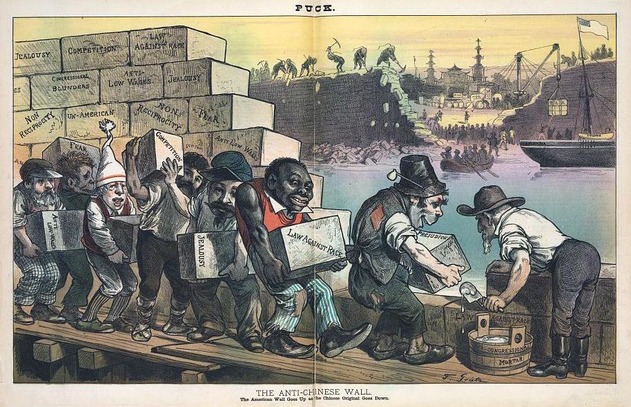The Anti-Chinese Wall, cartoon