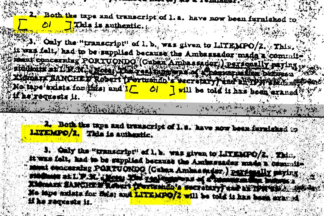 JFK, documents