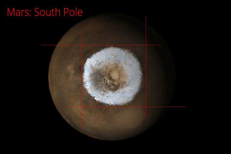 Mars, south pole