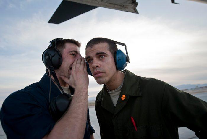 airmen, headphones