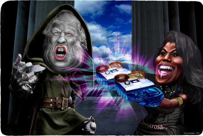 Donald Trump, Omarosa, Black Panther, Doctor Doom