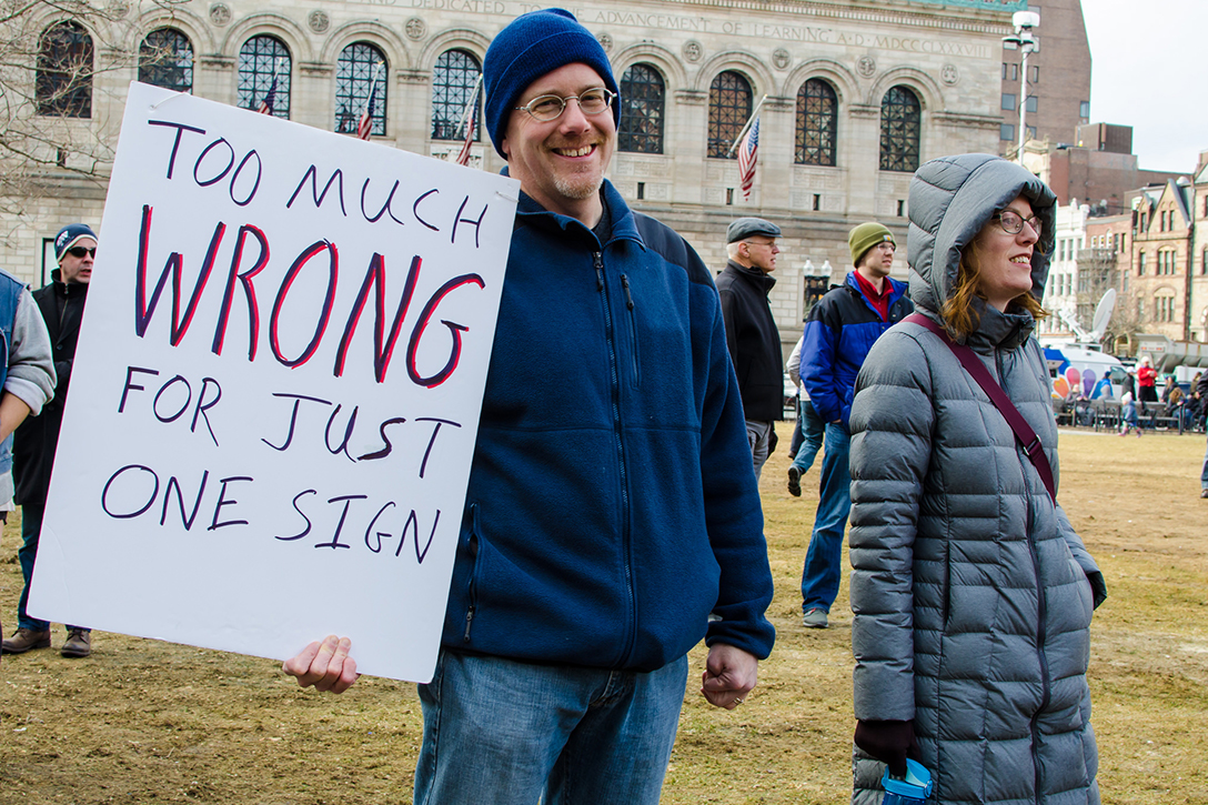 protest, sign