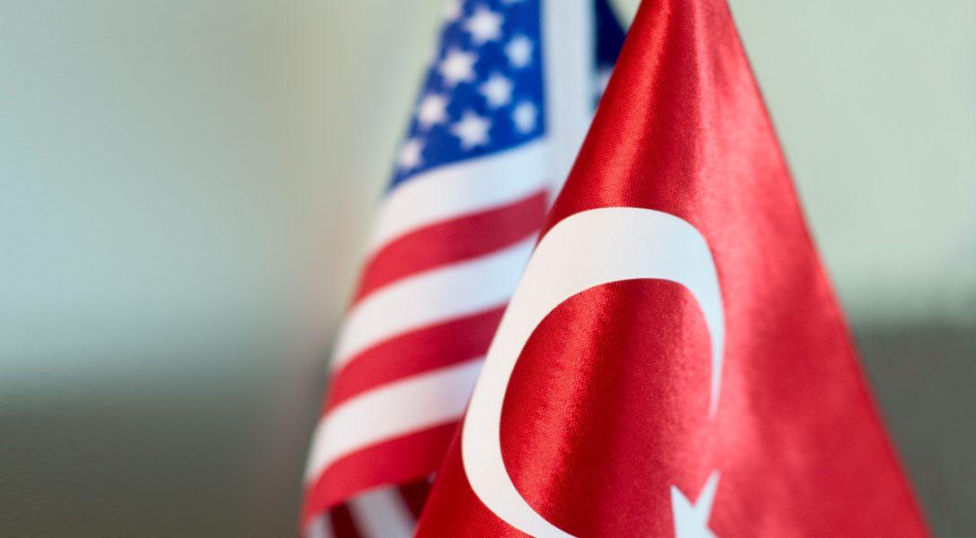 Turkey, US, Flags