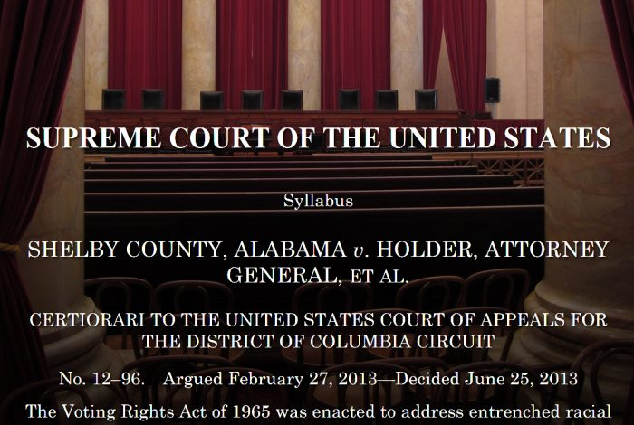 Shelby County v. Holder, US Supreme Court