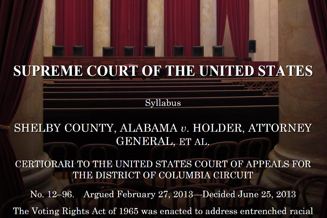 Shelby County v. Holder, US Supreme Court