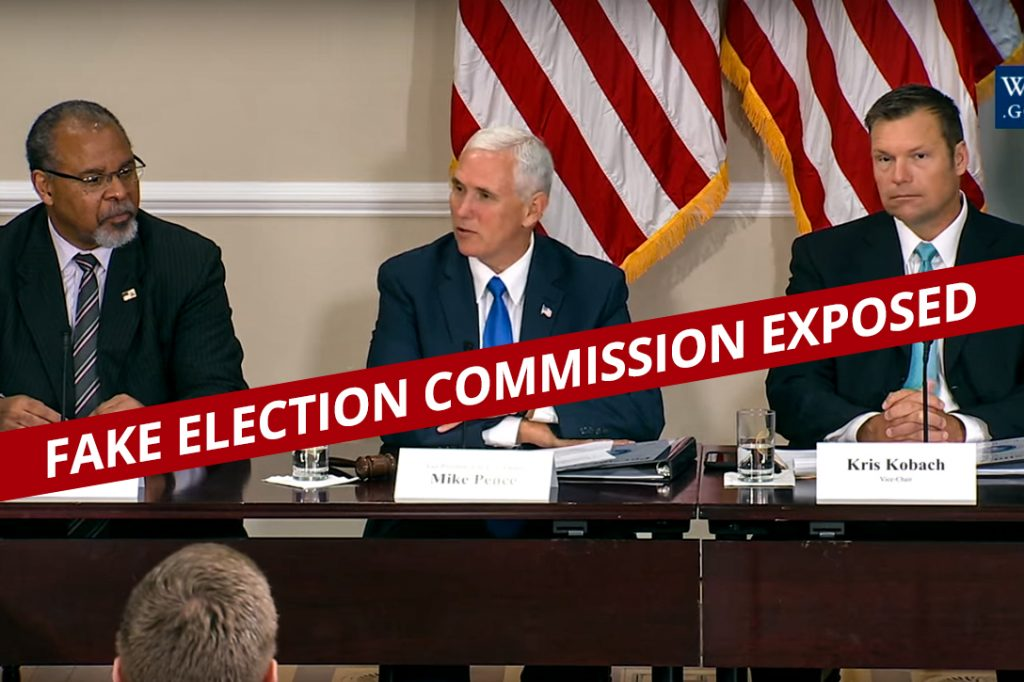 Mike Pence, Kris Kobach, Ken Blackwell, Commission on Election Integrity