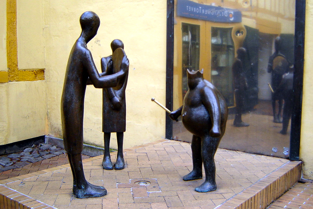 The Emperor's New Clothes, monument, Odense, Denmark.
