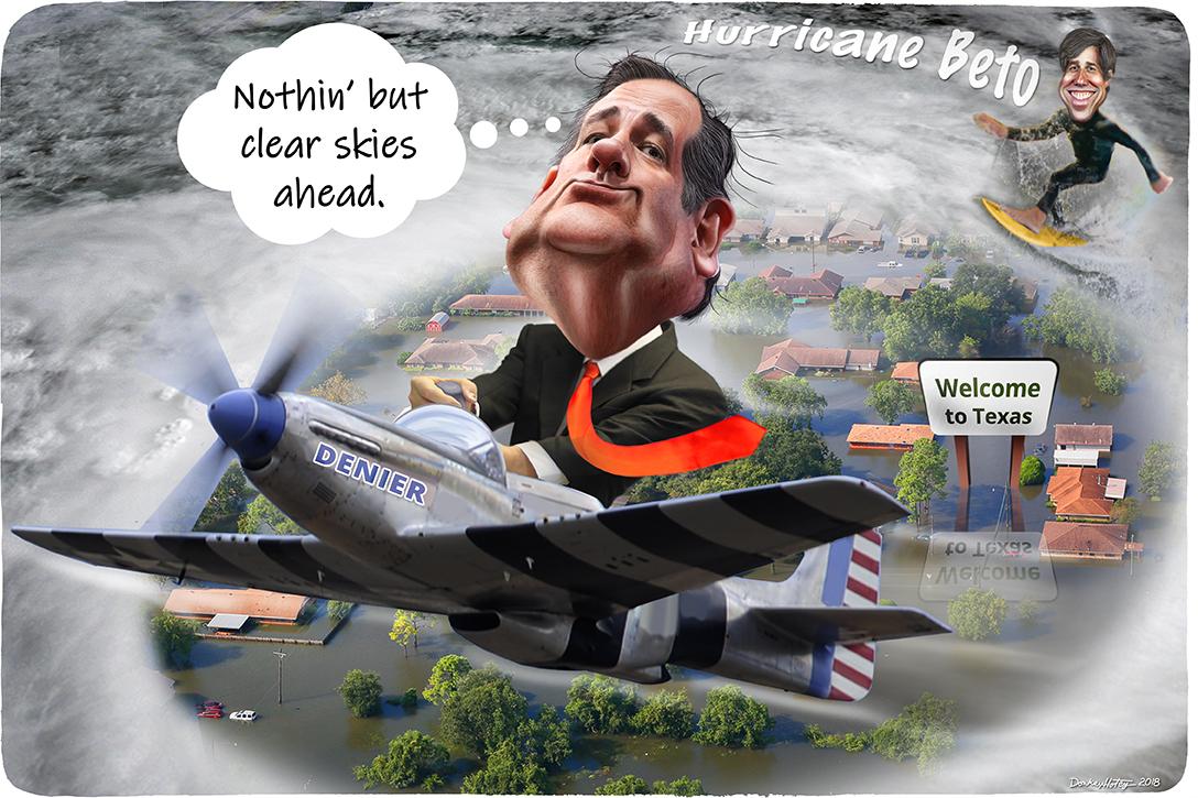 Ted Cruz, Texas, Beto O'Rourke, hurricane
