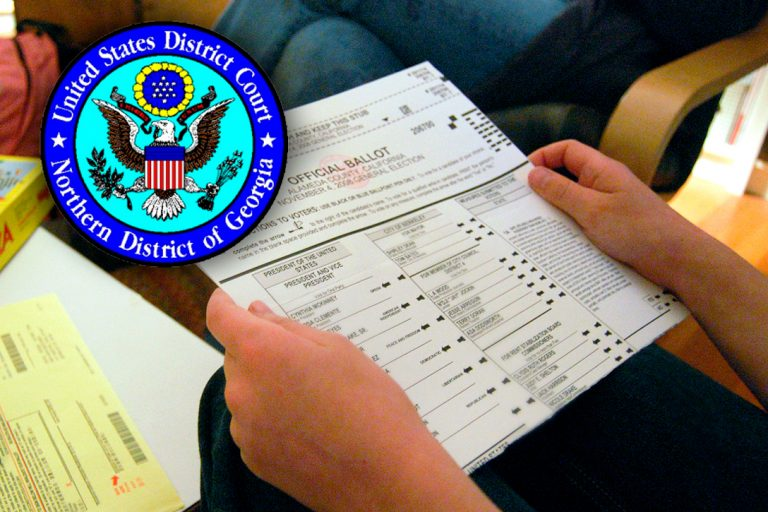 paper ballots, US District Court for the Northern District of Georgia