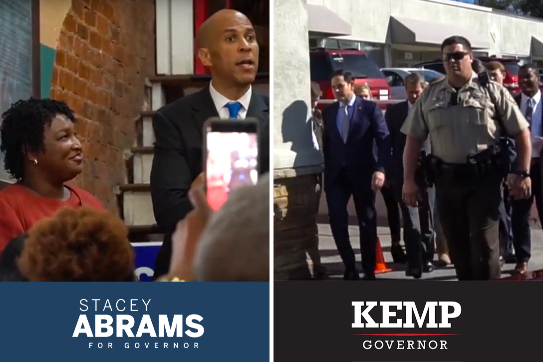 Stacey Abrams, Cory Booker, Marco Rubio, Brian Kemp