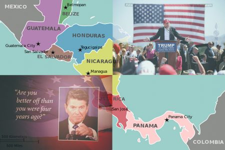 Central America, Donald Trump, Ronald Reagan