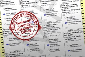 Gwinnett County, ballot