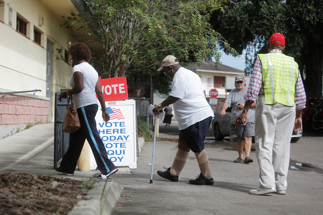early voters, Tampa, Florida