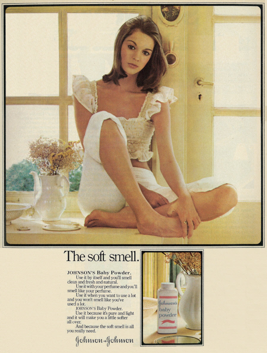 Johnson's baby powder advertisement