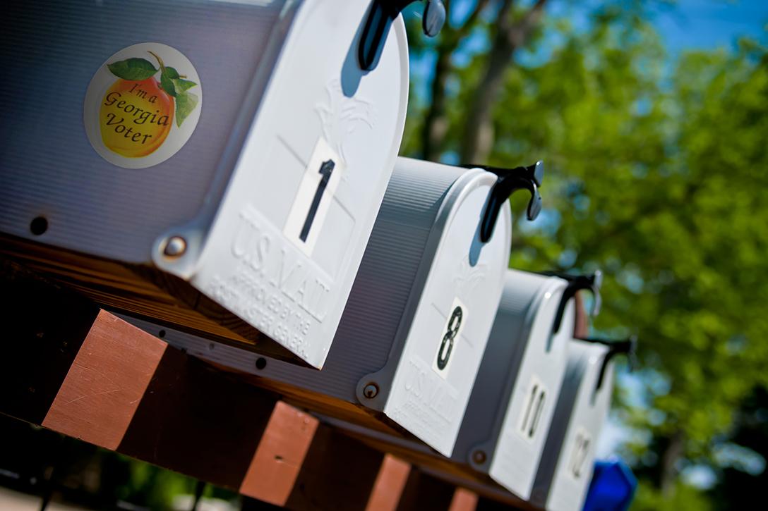 Georgia, mailbox, voting