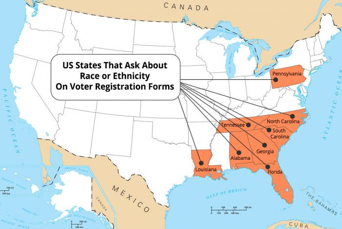Asking Voters About Race Helpful Tool Or Roadmap For Suppression - Us-map-by-ethnicity