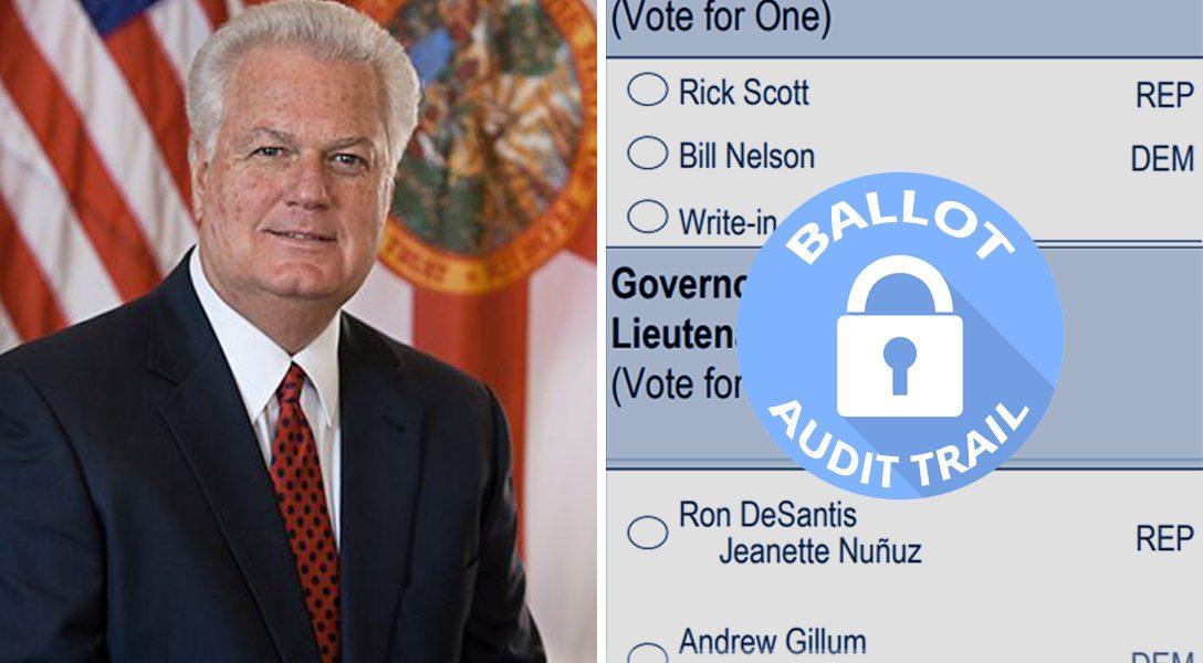 Florida Secretary, of State, Ken Detzner, ballot