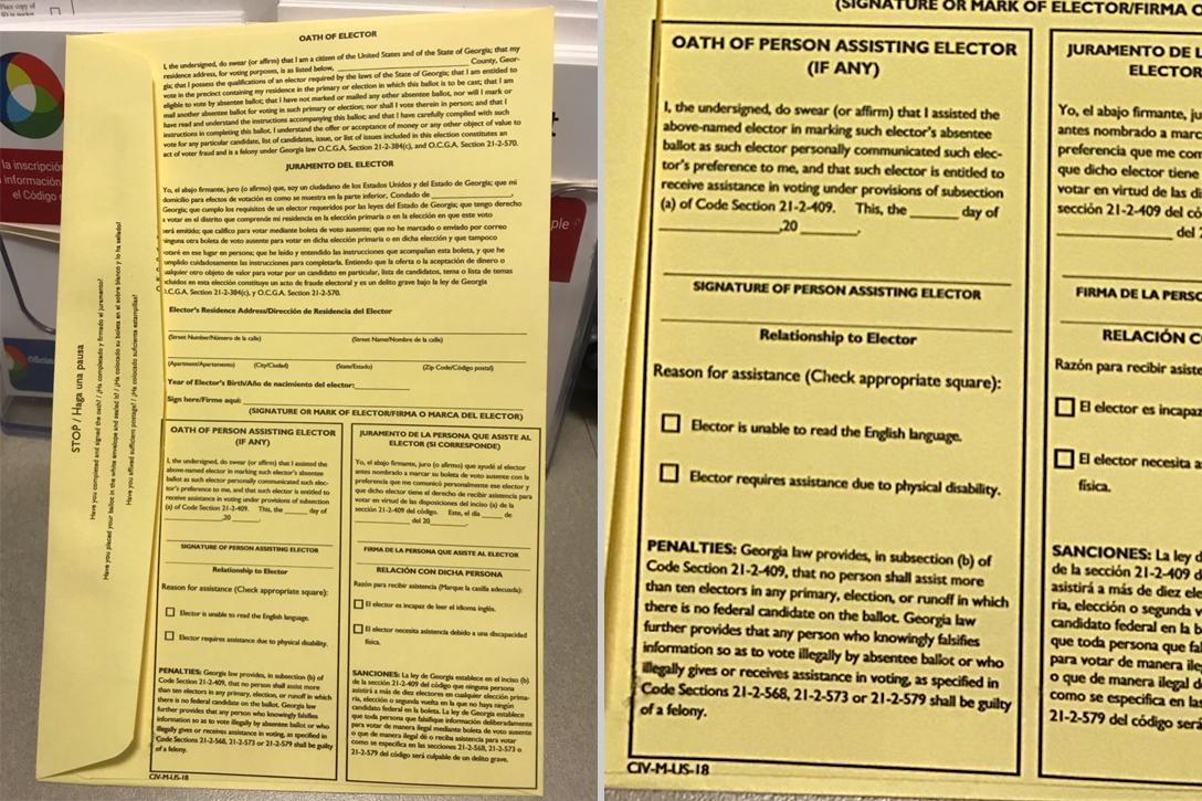 Gwinnett County, absentee ballot